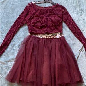 Purple marron homecoming dress